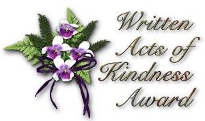 WrittenActsofKindnessAwardbycateartios