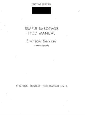 Sabotage manual
